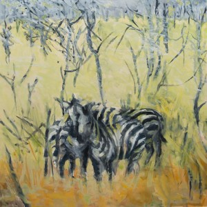 A Stand of Acacia_Oil on Panel_30x30inches